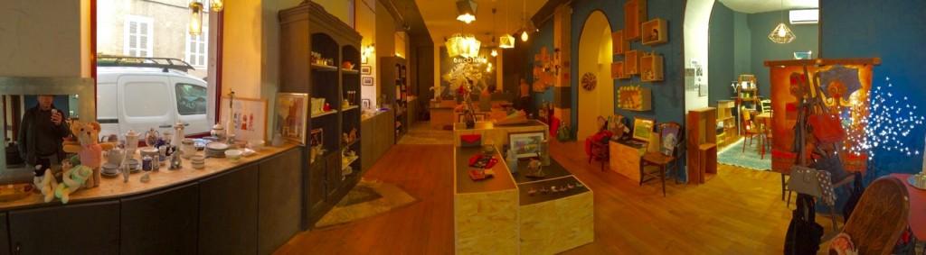 Notre boutique avant l'inauguration.