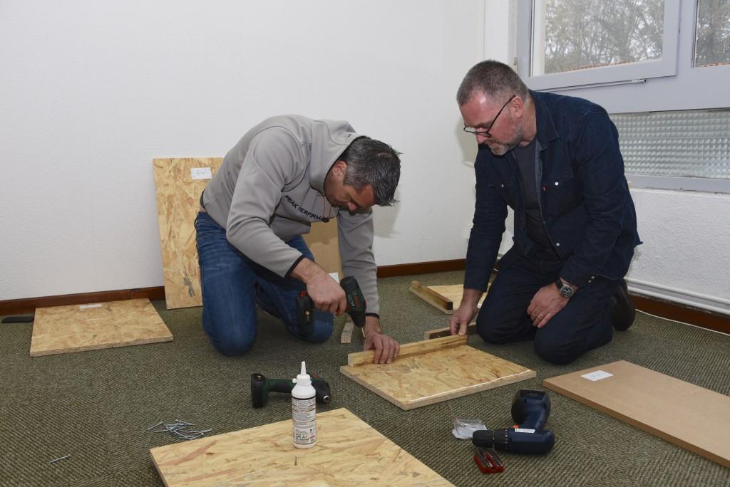 Nicolas et Laurent, des experts en foreuse et visseuse...