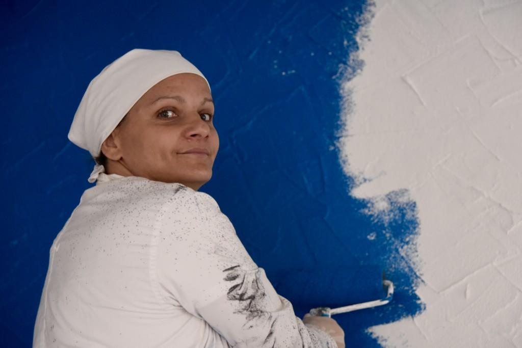 Béatrice, la reine du bleu !