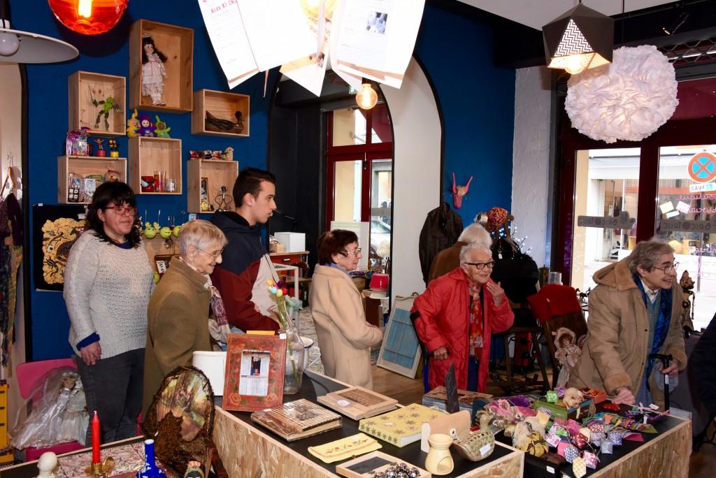 Visite de résidente de la maison de retraite Bernadette de Pau